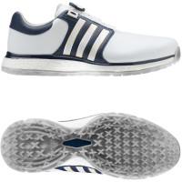 Adidas Tour 360 XT SL Spikeless BOA Herren Golfschuhe, WIDE, Weiß / Navy
