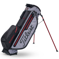 Titleist Players 4+ StaDry Waterproof Standbag, Grau / Schwarz / Rot