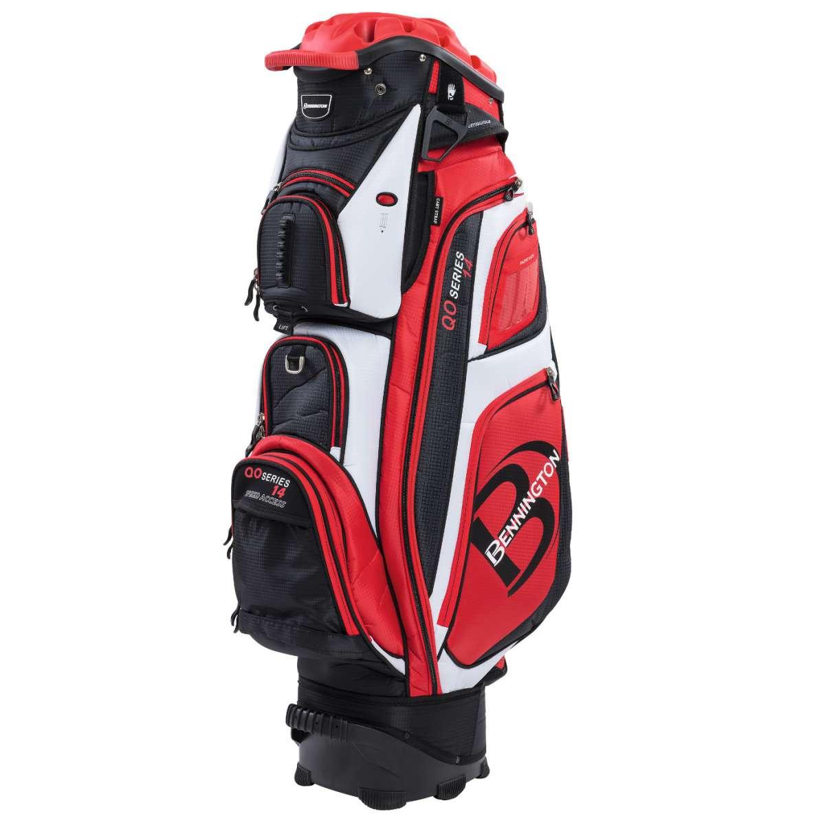 uk availability ee9af 78b86 Bennington QO 14 Cartbag  Golfbag in Rot  Schwarz  Golflädch