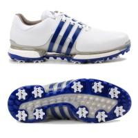 Adidas Tour 360 Boost 2.0 Herren Golfschuhe, Weiß / Blau / Silber