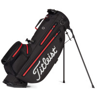 Titleist Players 4+ StaDry Waterproof Standbag, Schwarz / Rot