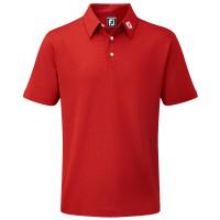 FootJoy Pique Solid Herren Golfshirt, Rot
