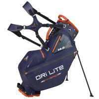 Big Max 2021 Dri Lite Hybrid Tour 14-way Waterproof Standbag, Dunkelblau / Orange