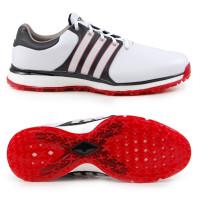 Adidas Tour 360 XT SL Spikeless Herren Golfschuhe, Weiß / Schwarz / Rot
