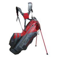 Sun Mountain H2NO 14-Way Waterproof Standbag, Grau / Rot