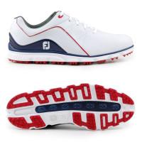 FootJoy Pro SL Herren Golfschuhe, Weiß / Navy / Rot
