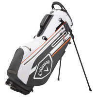 Callaway Chev Dry Waterproof Standbag, Weiß / Grau / Orange