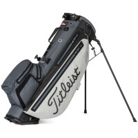 Titleist Players 4+ StaDry Waterproof Standbag, Grey / Charcoal / Black