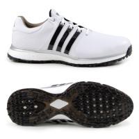 Adidas Tour 360 XT SL Spikeless Herren Golfschuhe, Weiß / Schwarz / Silber
