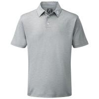 FootJoy Pique Solid Herren Golfshirt, Helllgrau