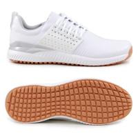 Adidas adicross Bounce Leather Herren Golfschuhe, Weiß