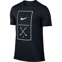 Nike Golf Graphic Tee Herren T-Shirt, Schwarz