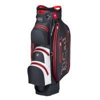 TiCad DRY Tour Waterproof Cartbag, Schwarz / Weiß / Rot