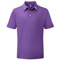 FootJoy Pique Solid Herren Golfshirt, Lila