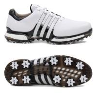 Adidas Tour 360 Boost 2.0 Herren Golfschuhe, Weiß / Schwarz