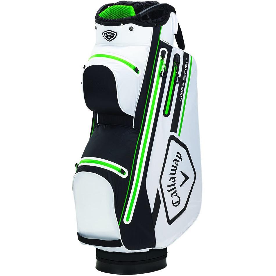 Golf Callaway 2021 Chev Dry 14 Waterproof Cartbag, Weiß / Schwarz / Grün