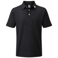 FootJoy Pique Solid Herren Golfshirt, Schwarz