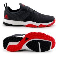 Adidas adipower 4orged S Herren Golfschuhe, Schwarz / Weiß / Rot