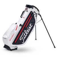 Titleist Players 4+ StaDry Waterproof Standbag, Weiß / Schwarz / Rot