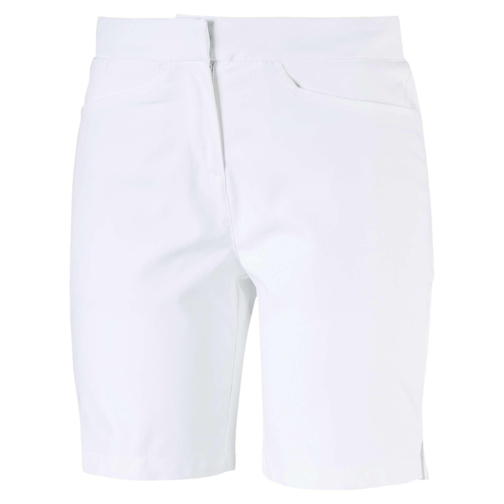 Puma Pounce Damen Golf Bermuda Shorts, Weiß