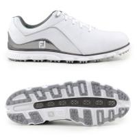 FootJoy Pro SL Herren Golfschuhe, WIDE, Weiß / Silbergrau