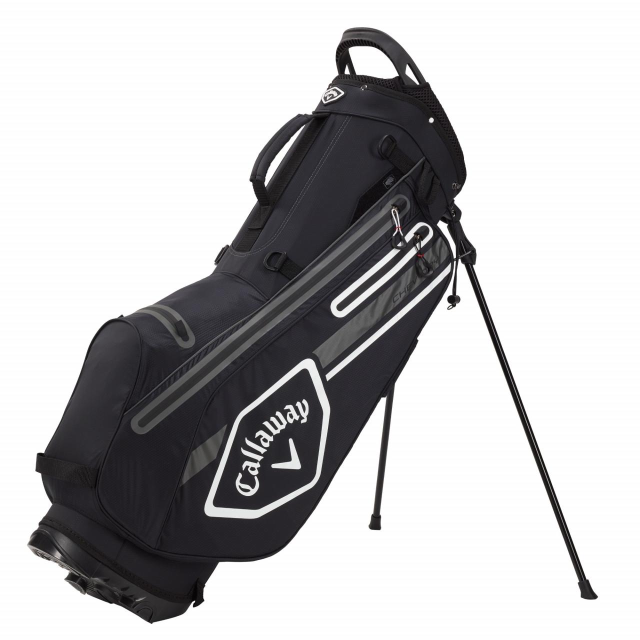 Golf Callaway Chev Dry Waterproof Standbag, Schwarz / Grau