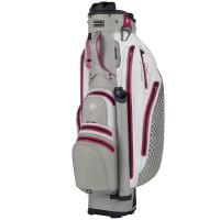 Bennington Quiet Organizer 9 (QO 9) LITE Waterproof Damen  Cartbag, Grau / Weiß / Pink