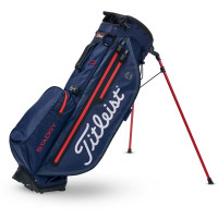 Titleist Players 4+ StaDry Waterproof Standbag, Navy / Rot
