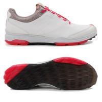 Ecco Biom Hybrid 3 GTX Damen Golfschuhe, Weiß / Anthrazit / Rot