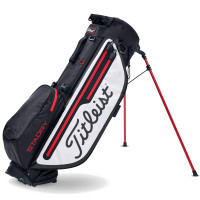 Titleist Players 4+ StaDry Waterproof Standbag, Schwarz / Weiß / Rot