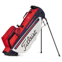 Titleist Players 4+ StaDry Waterproof Standbag, Red / White / Navy