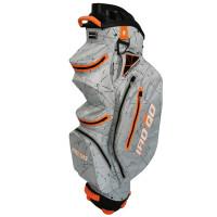 Bennington IRO Quiet Organizer 14 (QO 14) Waterproof Cartbag 2020, Silver Flash / Orange