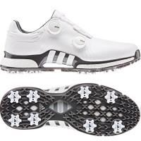 Adidas Tour 360 XT Twin BOA Herren Golfschuhe, WIDE, Weiß / Grau