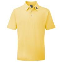 FootJoy Pique Solid Herren Golfshirt, Gelb