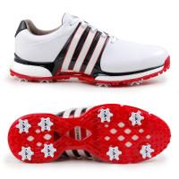 Adidas Tour 360 XT Herren Golfschuhe, Weiß / Schwarz / Rot