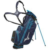 Mizuno BR-DRI Waterproof Standbag, Navy / Cyan