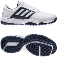Adidas 360 Bounce SL Herren Golfschuhe, WIDE, Weiß / Dunkelblau