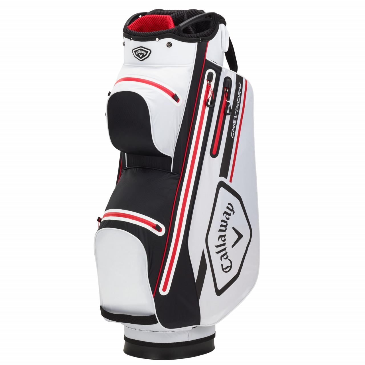 Golf Callaway 2021 Chev Dry 14 Waterproof Cartbag, Weiß / Schwarz / Rot