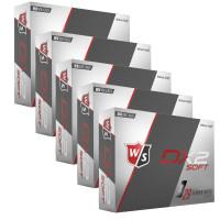Wilson Staff Dx2 Soft Golfbälle, Vorteilspack, 60 Stück