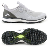 Adidas FORGEFIBER BOA Herren Golfschuhe, WIDE, Grau / Weiß