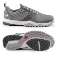 Adidas adipower 4orged S Herren Golfschuhe, Grau / Weiß