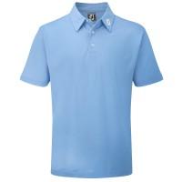 FootJoy Pique Solid Herren Golfshirt, Hellblau