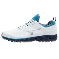 Mizuno Wave Cadence Spikeless Herren Golfschuhe, Weiß / Blau