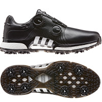 Adidas Tour 360 XT Twin BOA Herren Golfschuhe, WIDE, Schwarz / Silber / Weiß