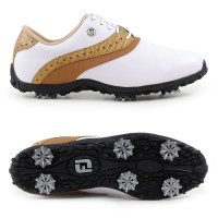 FootJoy ARC LP Damen Golfschuhe, WIDE, Weiß / Braun