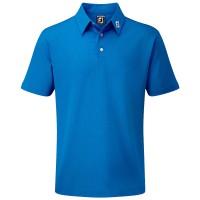 FootJoy Pique Solid Herren Golfshirt, Kobaltblau