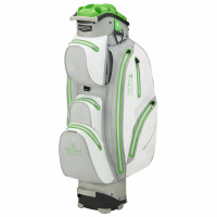 Bennington Sport Quiet Organizer 14 (QO 14) Waterproof Cartbag, White / Silver / Lime